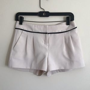 Pleated Beige Dress Shorts